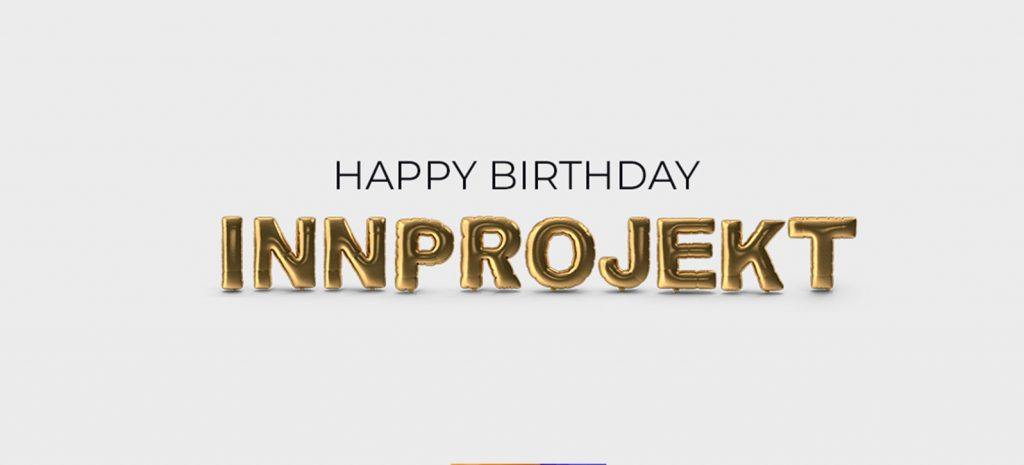 Happy 5th birthday InnProjekt Software Solutions for Sports Betting_Baloons Letters